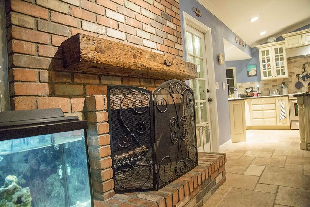 Reclaimed Hand Hewn Oak Mantle