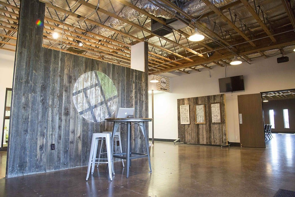 New City Church – Reclaimed Hemlock Accent Wood Wall