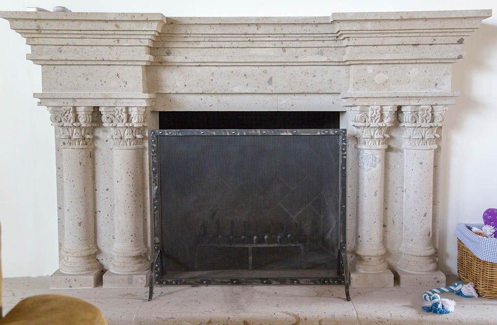 Black Steel Fireplace Screen