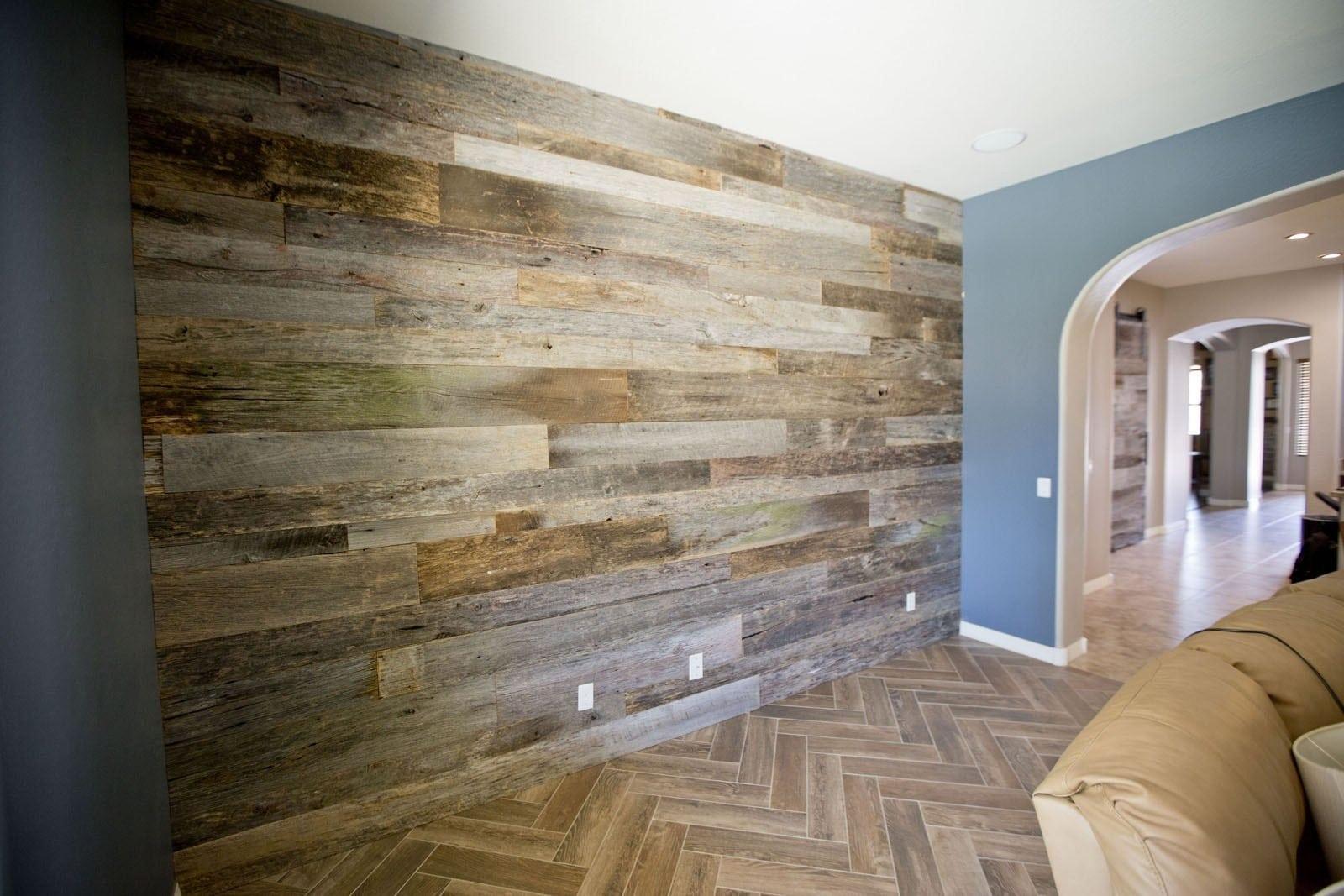 Reclaimed Tobacco Barn Grey Wood Wall Porter Barn Wood