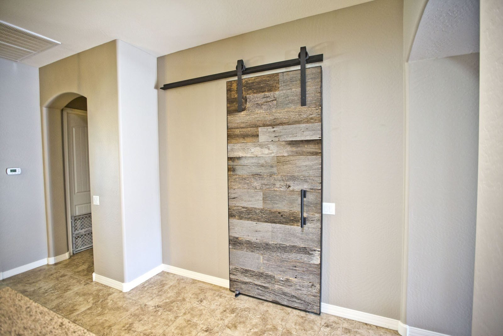 Tobacco Barn Grey Sliding Barn Door | Porter Barn Wood