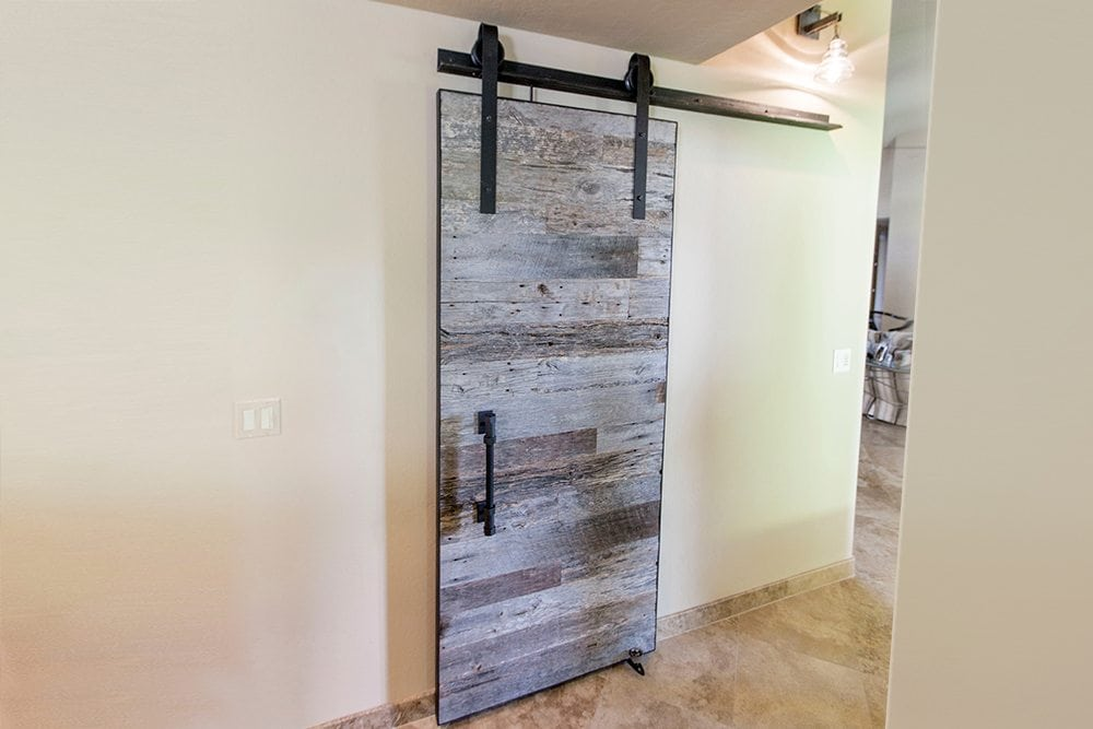 Modern Industrial Tobacco Barn Grey Sliding Barn Door