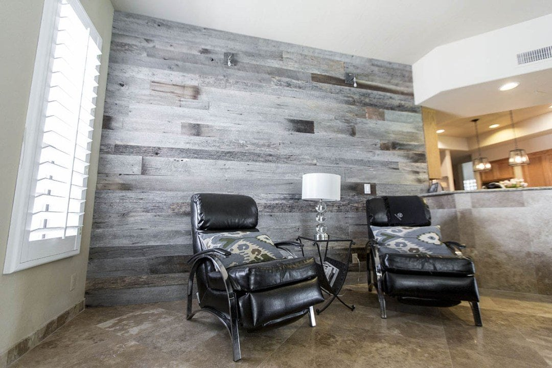 Modern Contemporary Tobacco Barn Grey Wood Wall
