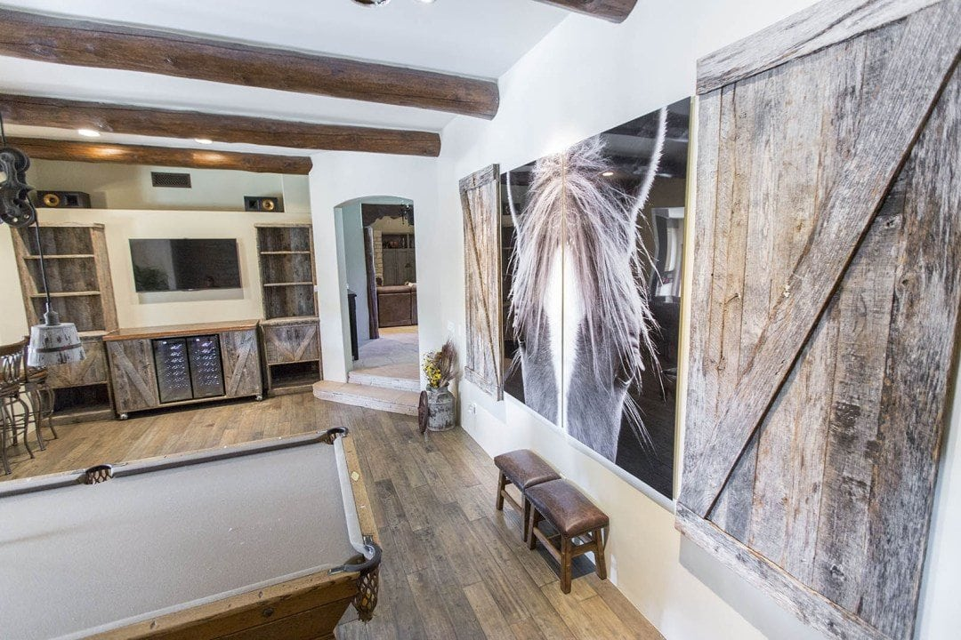 Reclaimed Tobacco Barn Grey Wall-Mounted Barn Doors