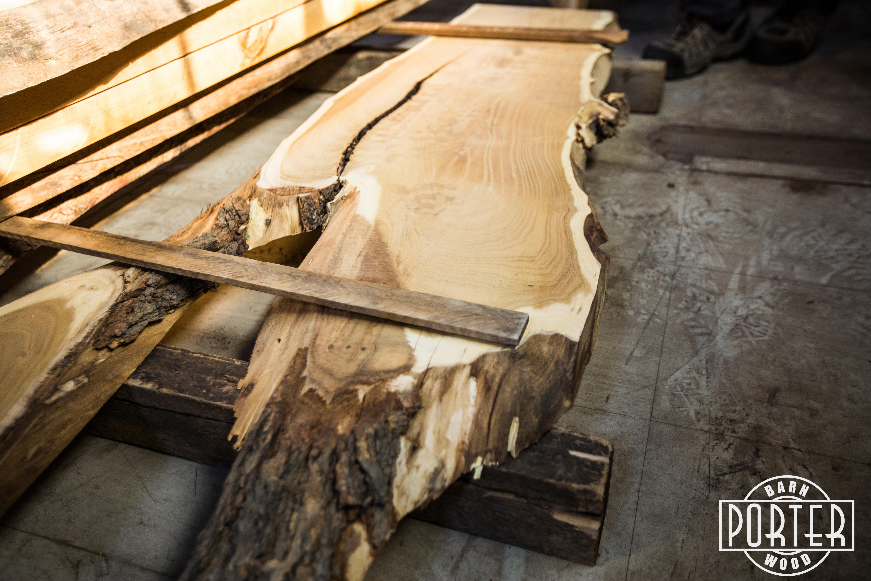 Wall Shelves For Kitchen Mulberry Live Edge Slab Porter Barn Wood