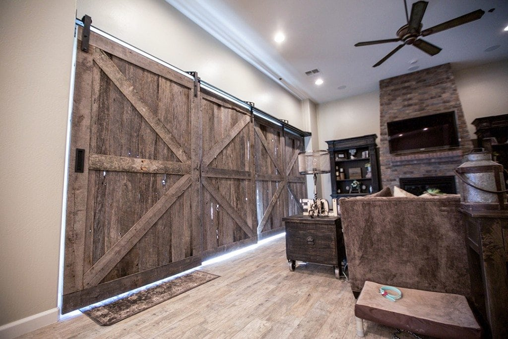 Quadruple Sliding Barn Doors