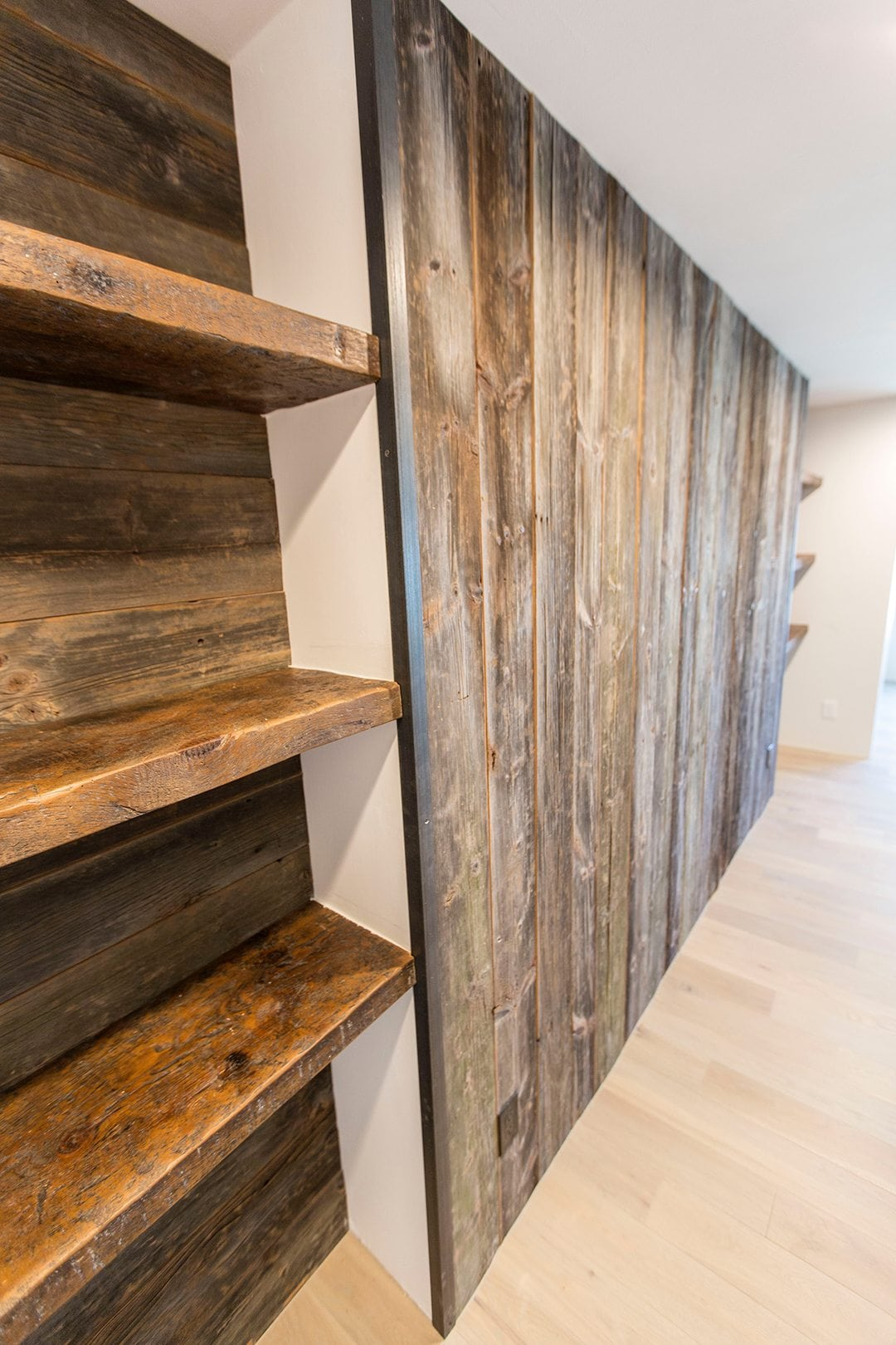 reclaimed wood wall entertainment center shelves. Black Bedroom Furniture Sets. Home Design Ideas