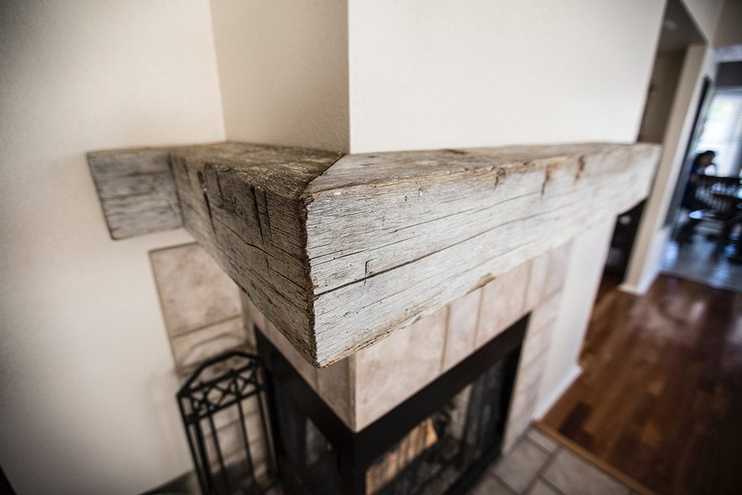 Reclaimed Oak Angled Mantel