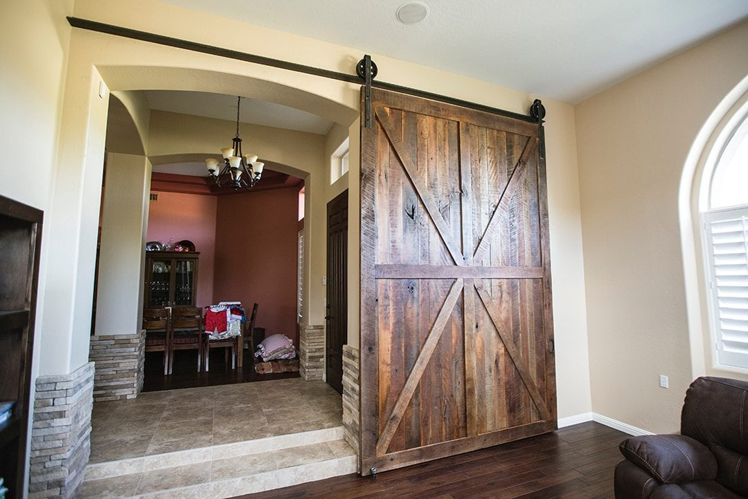Cherry Barn Door