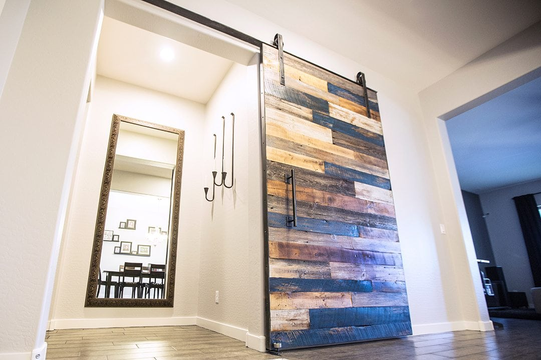 Multi Colored Sliding Barn Door