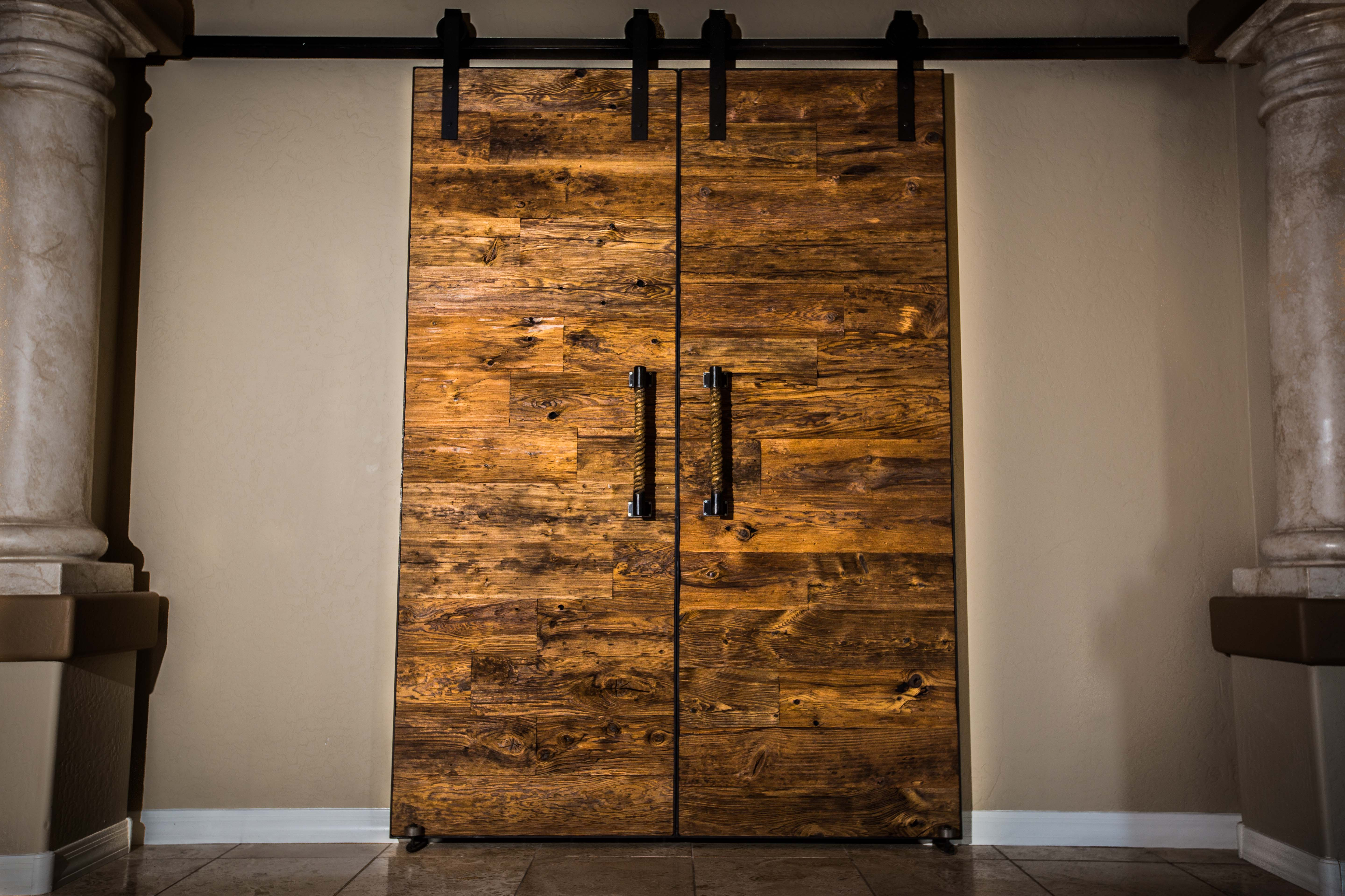 Mushroom Wood Sliding Barn Wood Door