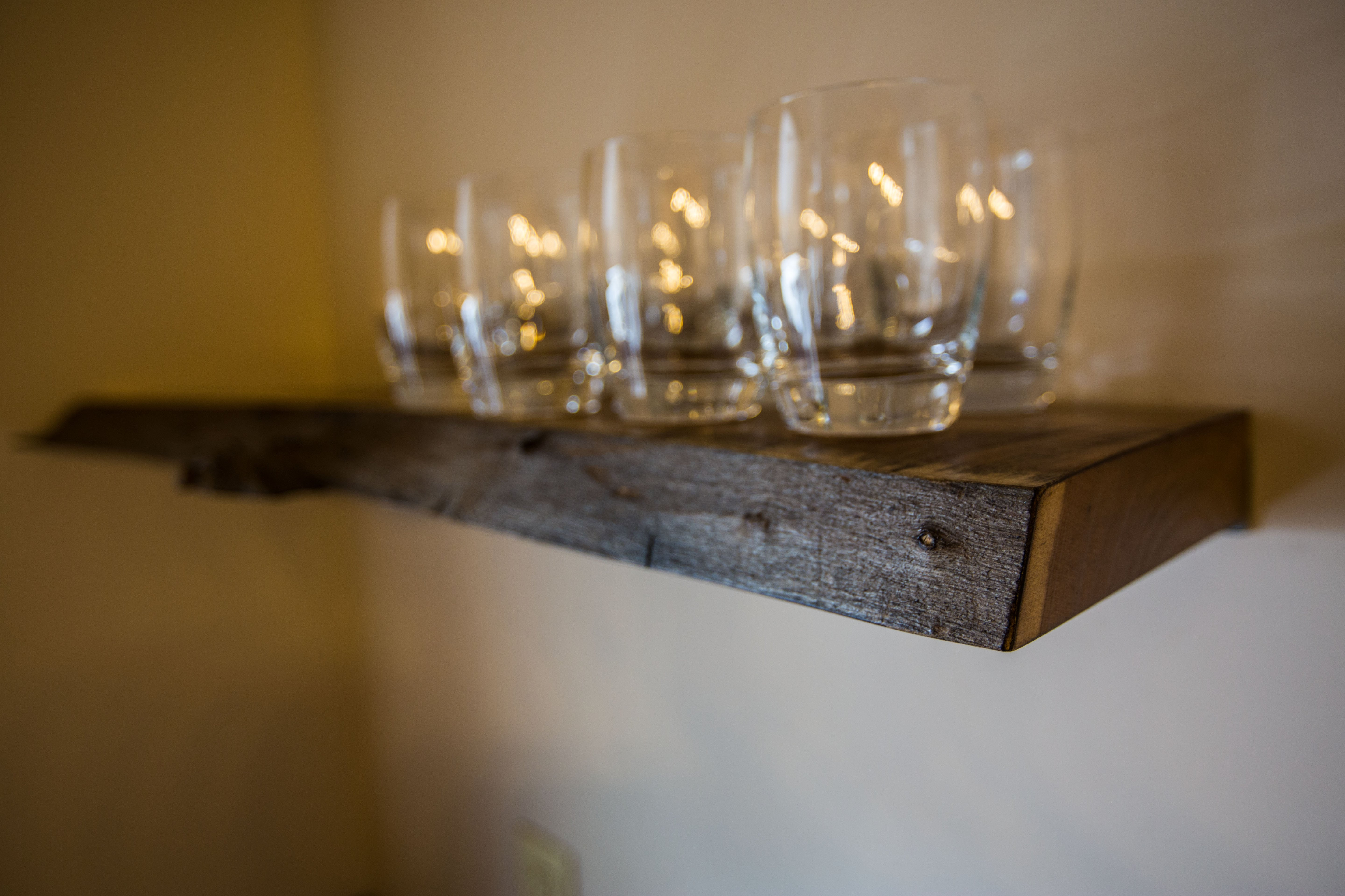 The Spencer Companies Live Edge Shelves