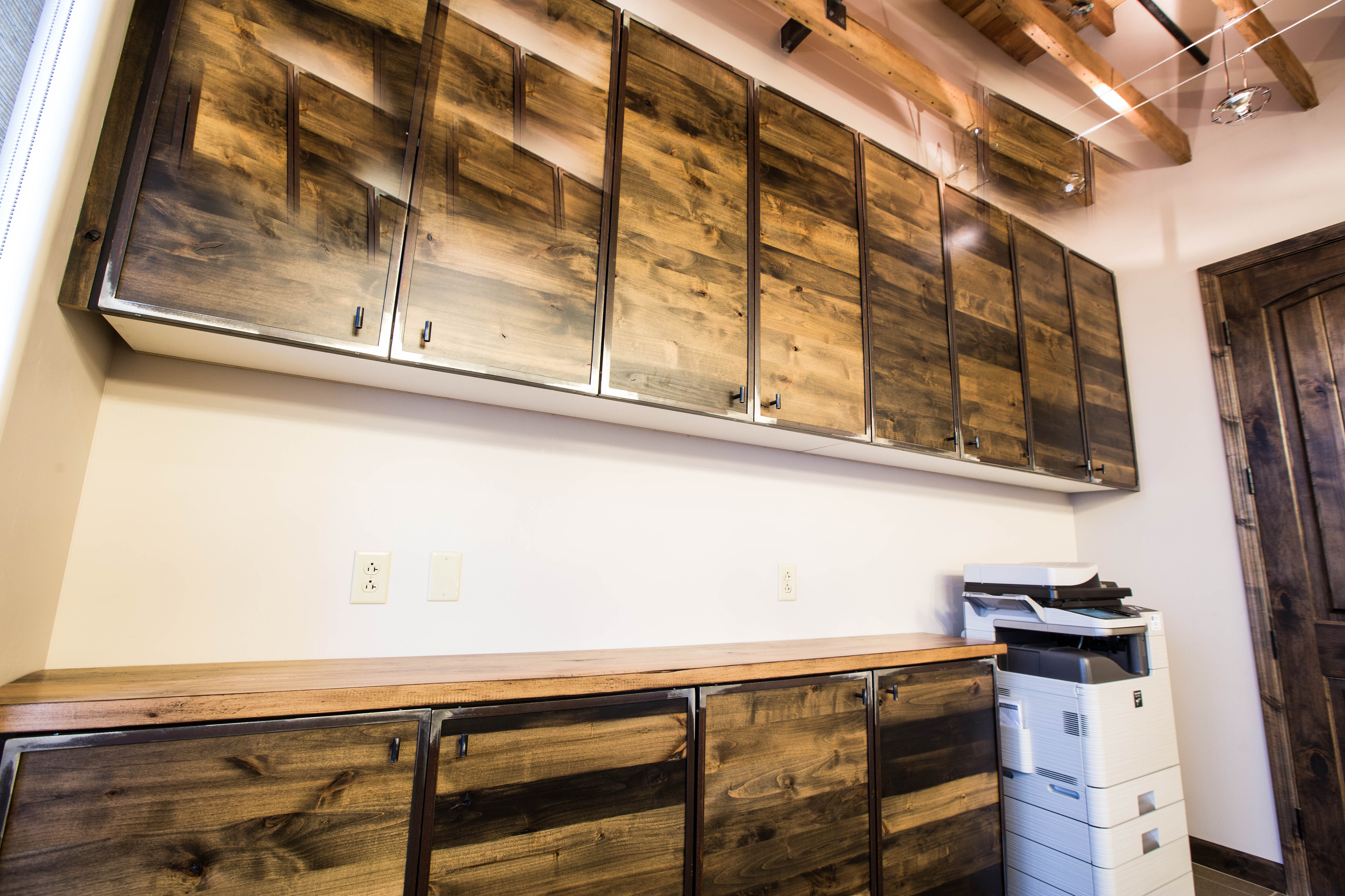 The Spencer Companies Reclaimed Barn Wood Cabinets
