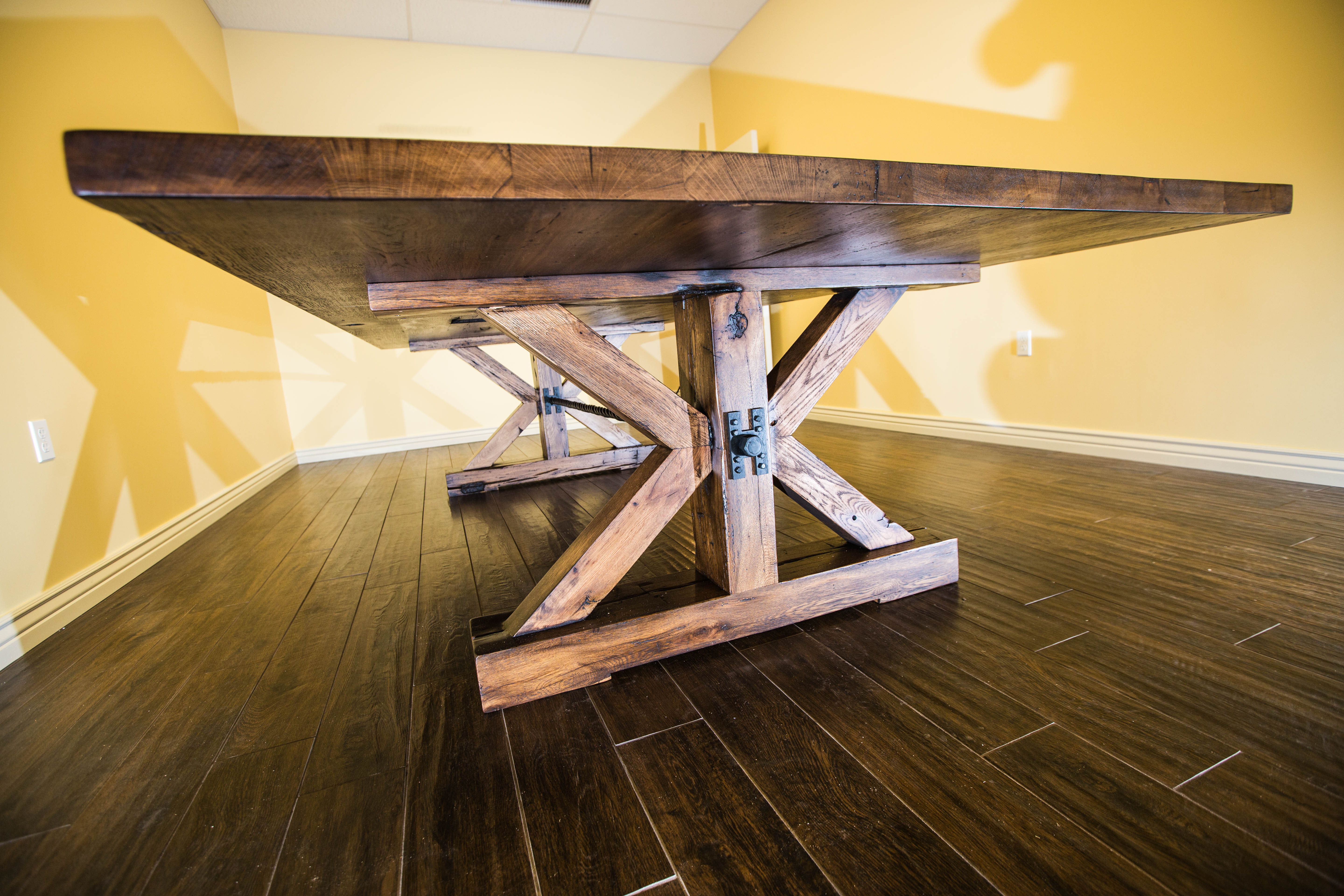 XBase Reclaimed Hardwoods Break Room DiningConference Table - 5 ft conference table