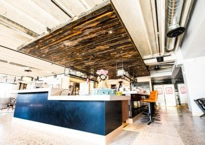 Moxy Hotel – Tempe Speckled Black Bulkhead & Bar Racks