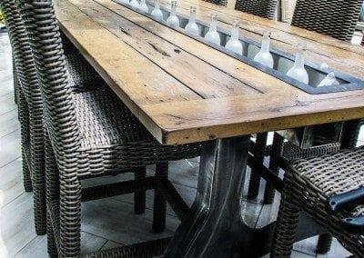 Wine Trough Table