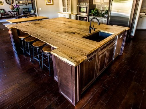 Live Edge Hackberry Island Top
