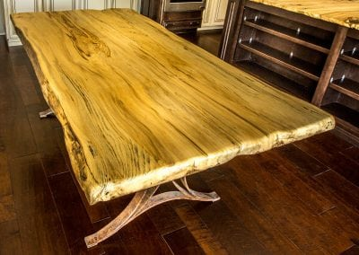 Live Edge Hackberry Dining Table