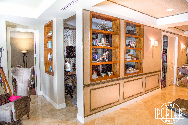 camelback condo built in cabinets shelves porter barn wood. Black Bedroom Furniture Sets. Home Design Ideas