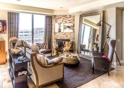 Camelback Condo – Living/Dining Room