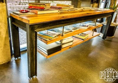 I-Beam Suspension Shelf Table