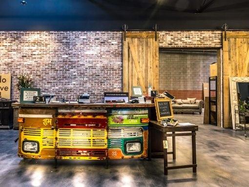 Potato Barn – Reclaimed Brick Wall/Sliding Doors