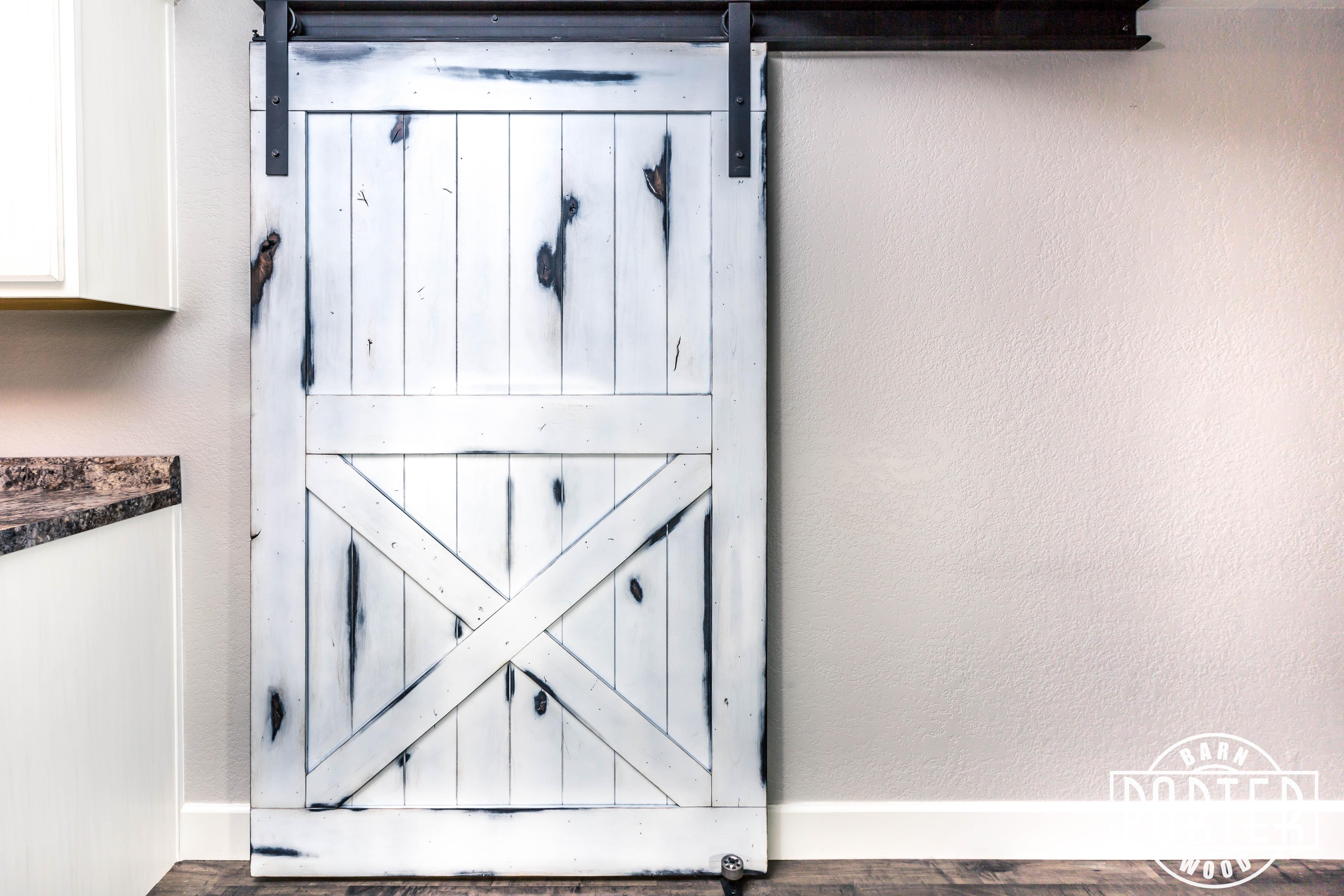Distressed White Knotty Alder Door