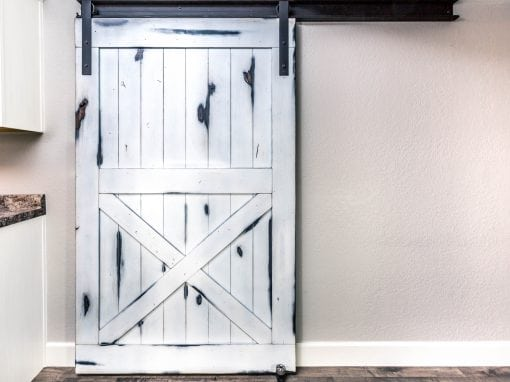 Distressed White Knotty Alder Door