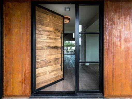 Black Hawk Pivot Door