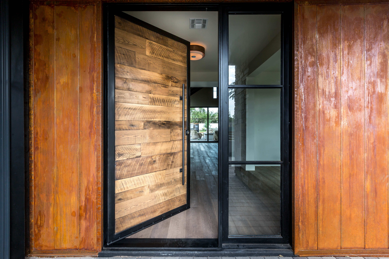 Black Hawk Pivot Door Porter Barn Wood