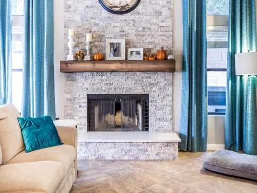 Wallin Reclaimed Oak Mantel