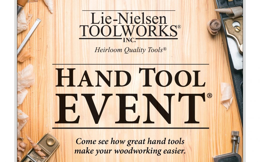Lie-Nielsen Hand Tool Event @ Porter Barn Wood – FREE Admission