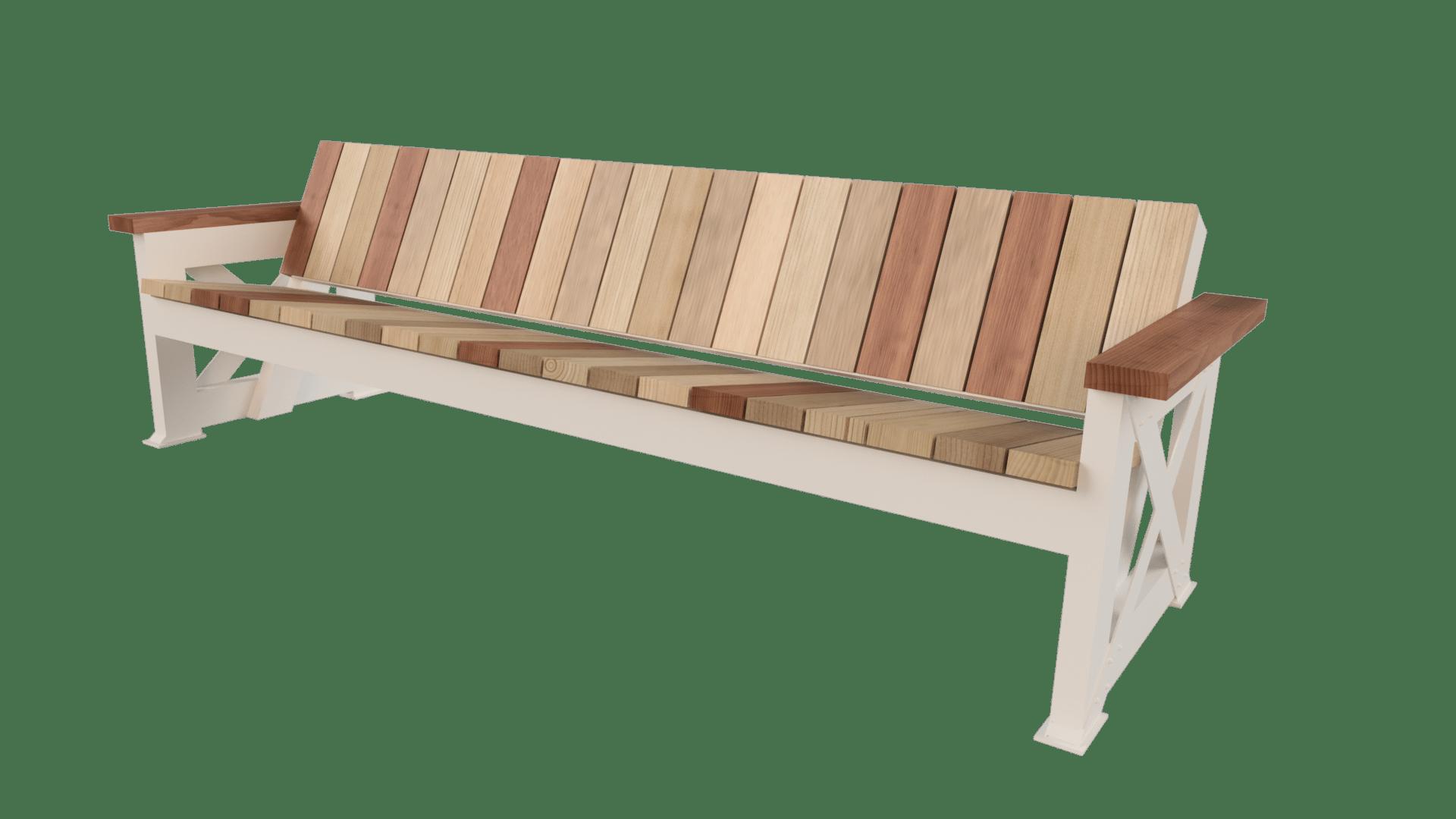 X Base Sofa W Reclaimed Wood Porter Barn Wood