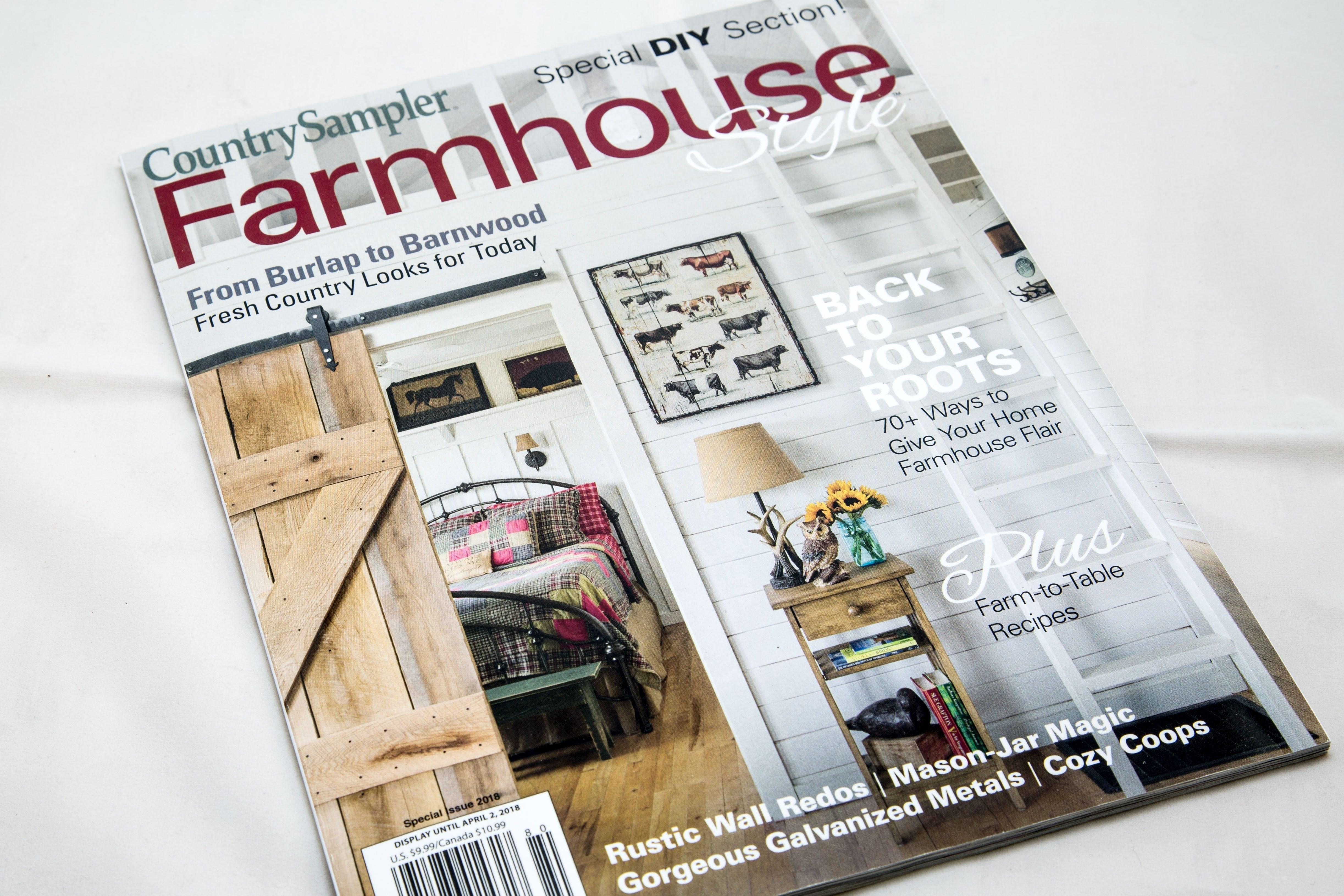 Country Sampler Farmhouse Style Porter Barn Wood