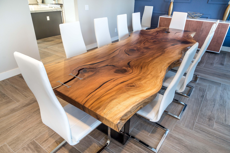 Vecchi Live Edge Dining Table Porter Barn Wood