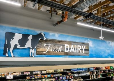 "Asiana Market ""Fresh Dairy"" Sign"