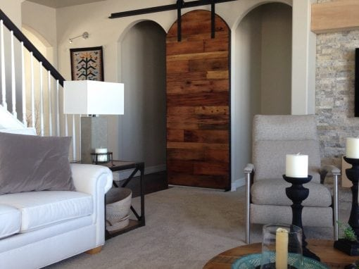 Arched Sliding Single Door for Two Openings