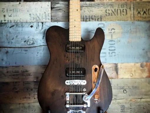 Wormy Poplar Guitar Body
