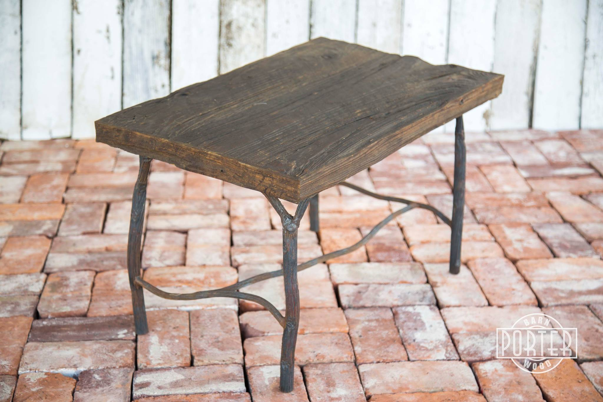 Enjoyable Mushroom Wood End Table With Organic Steel Base Porter Download Free Architecture Designs Crovemadebymaigaardcom