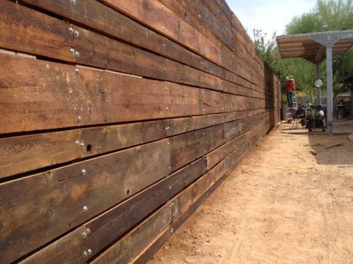 Reclaimed Wood Outdoor Perimeter Fence