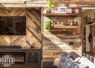 reclaimed wood wall material