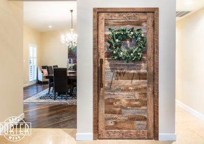 pre-hung reclaimed wood door