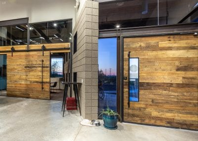 Reclaimed Wood Pivot Door & Sliding Door