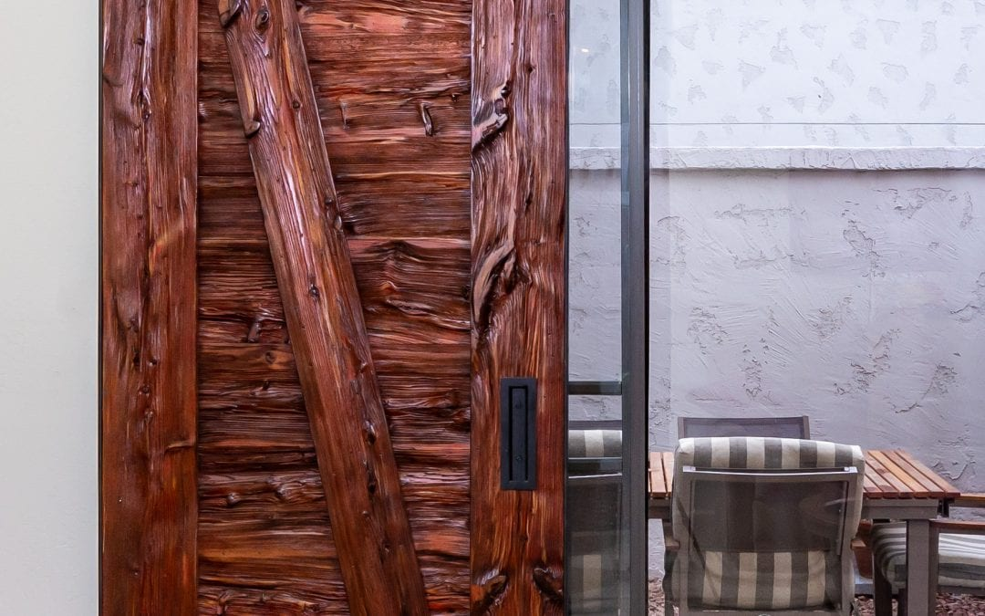 Reclaimed Mushroom Wood Sliding Door