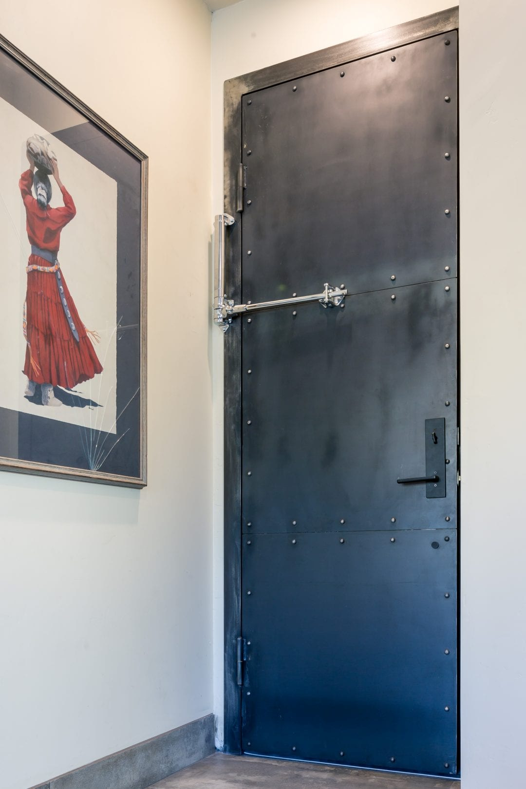 Riveted Steel Garage Door