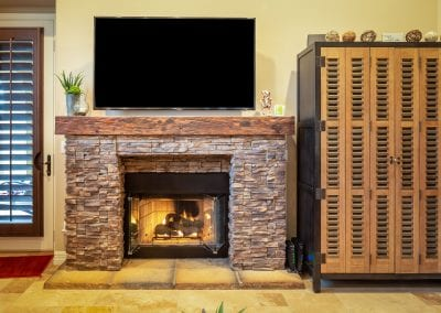 Reclaimed Mushroom Wood Mantel – Gilbert