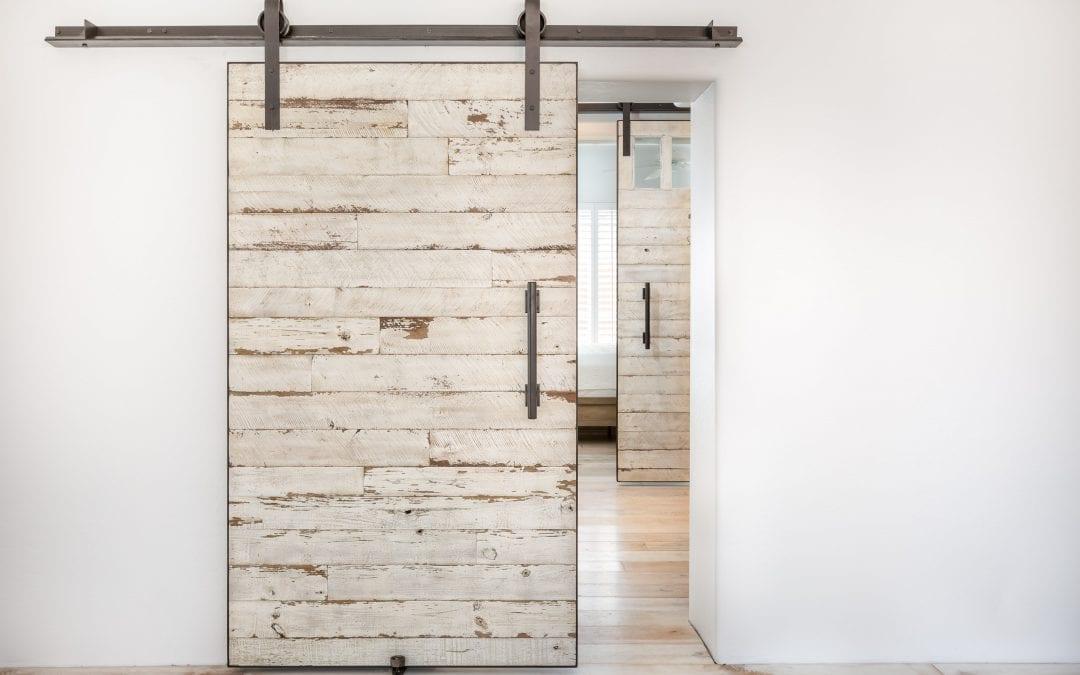 Reclaimed Speckled White Door