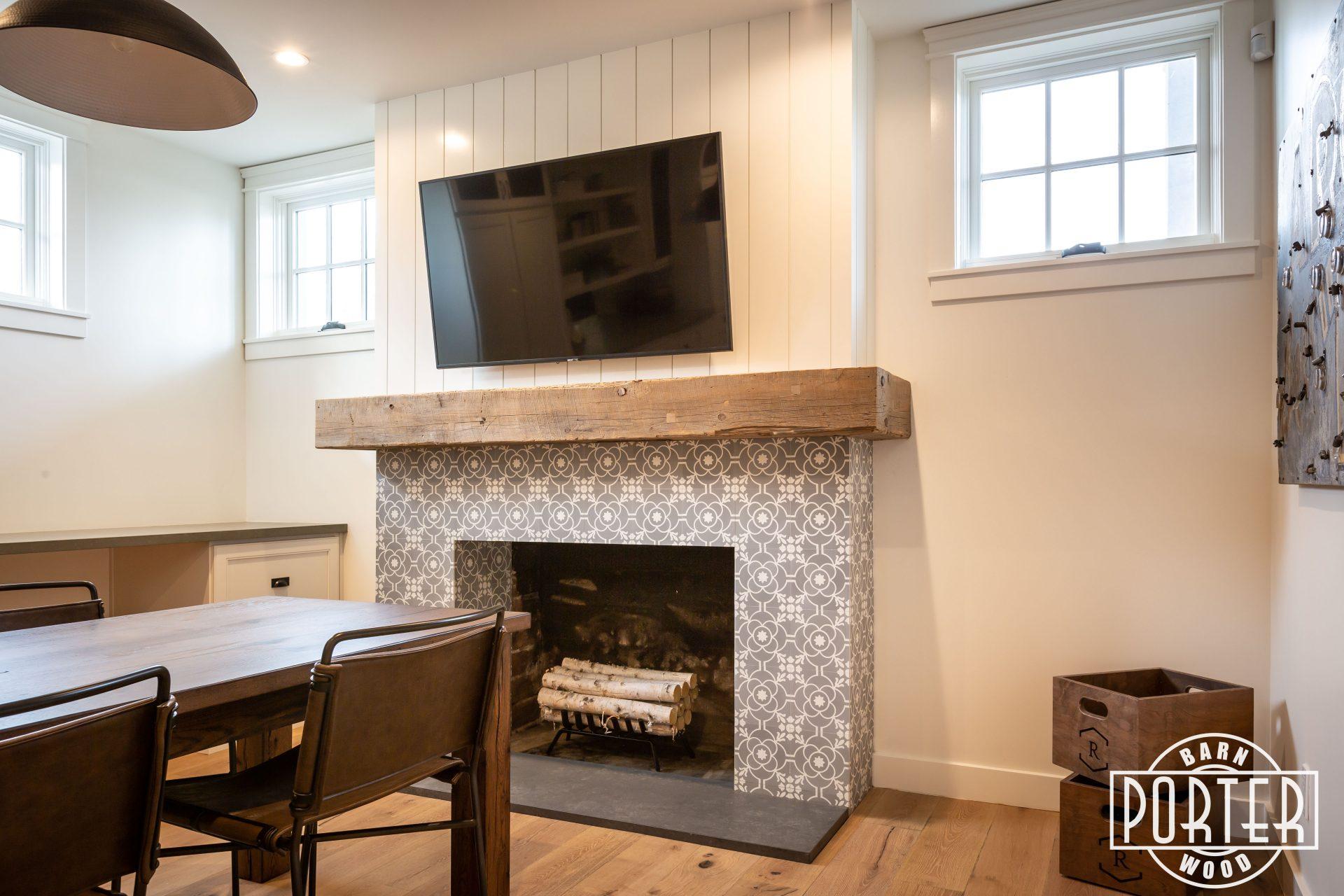 Reclaimed Beam Mantel Rafterhouse Porter Barn Wood