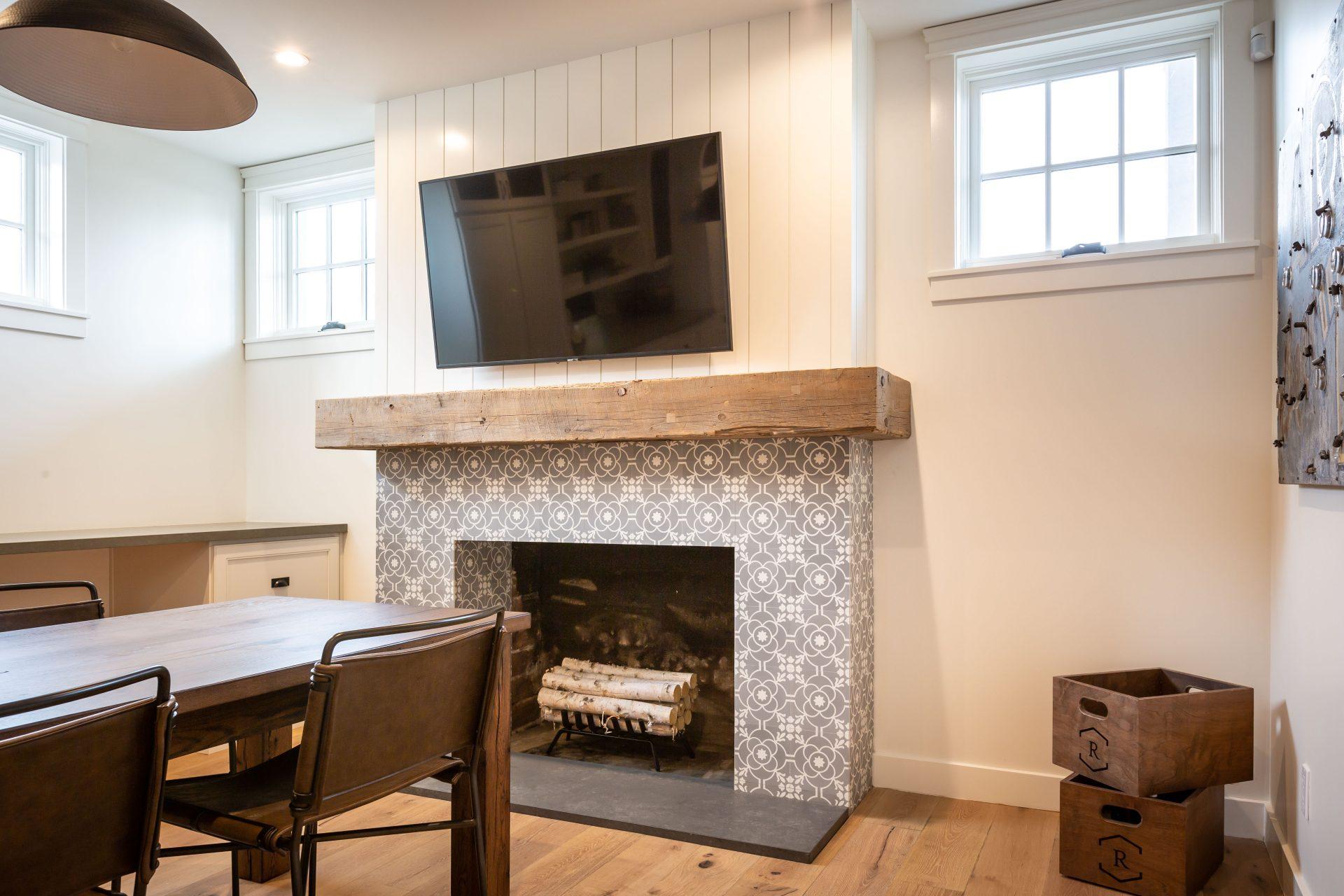 Reclaimed Beam Mantel Rafterhouse | Porter Barn Wood