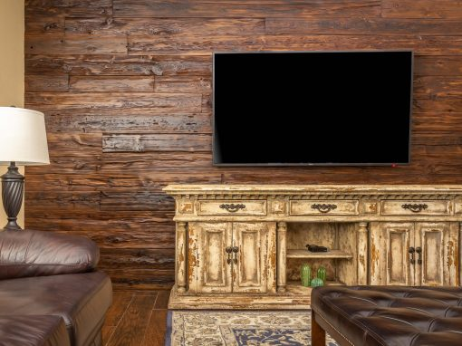 Reclaimed Mushroom Wood Wall